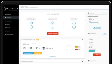 Xopero Cloud Management